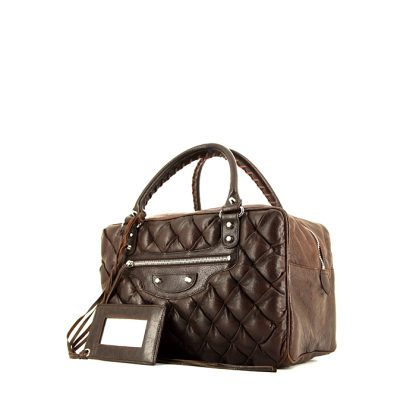 f203ce5a32f6 Best Balenciaga Replica handbag in brown quilted leather – High ...