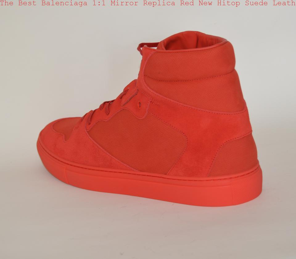 7451bcdacc8b The Best Balenciaga 1 1 Mirror Replica Red New Hitop Suede Leather Sneakers  Eu 41 Mens Sneakers Balenciaga bags